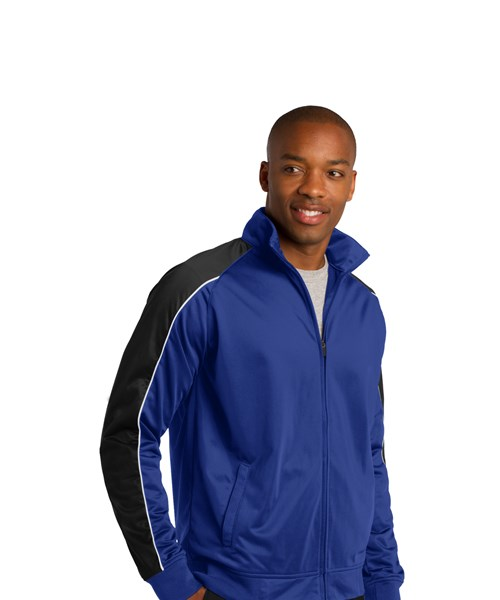 #JST92 Piped Tricot Track Jacket custom embroidered or printed with your  logo.