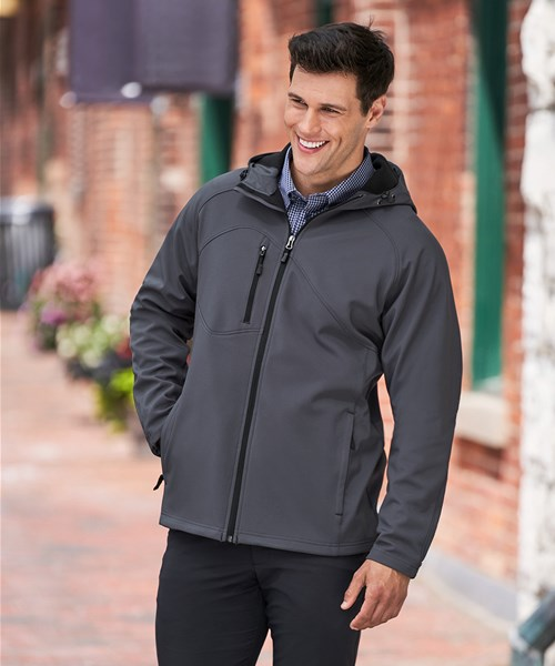 #88166 Mens Prospect Soft Shell Jacket with Hood custom embroidered or  printed with your logo.