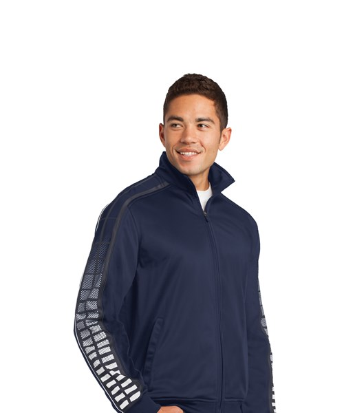 #JST93 Dot Sublimation Tricot Track Jacket custom embroidered or printed  with your logo.
