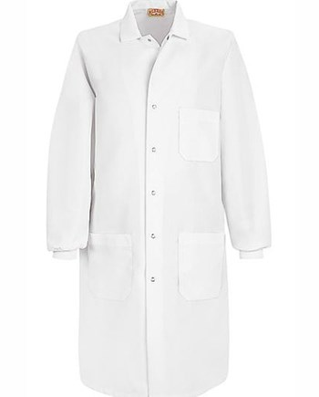 embroidery length on lab coat