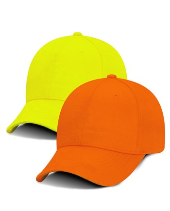 Promotional Baseball Hats MAX HI-VIZ custom embroidered and screen ... c13e74993fc9