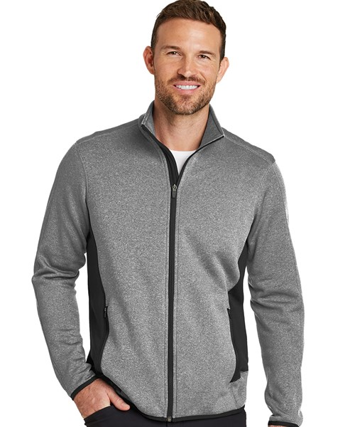 e62e6c73716b EB238 Full Zip Heather Stretch Fleece Jacket custom embroidered or ...