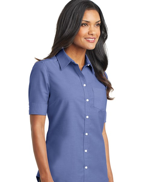 f756e5bfbca L659 Ladies Short Sleeve SuperPro Oxford Shirt custom embroidered or ...