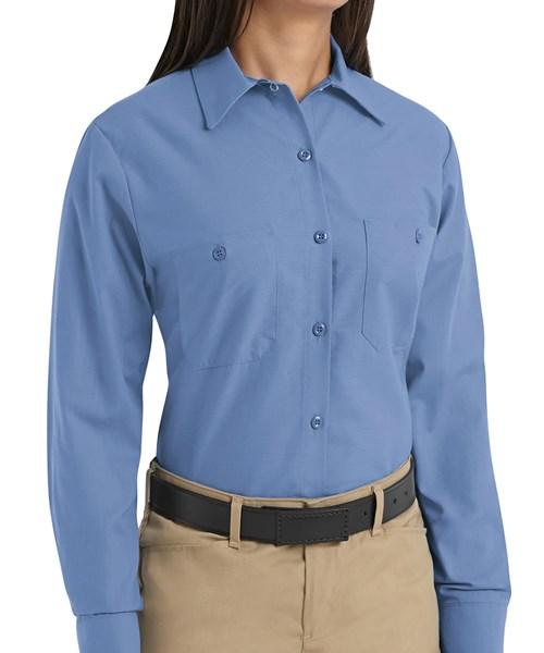 b6847fc8 SP13 Ladies Long Sleeve Industrial Work Shirt custom embroidered or ...