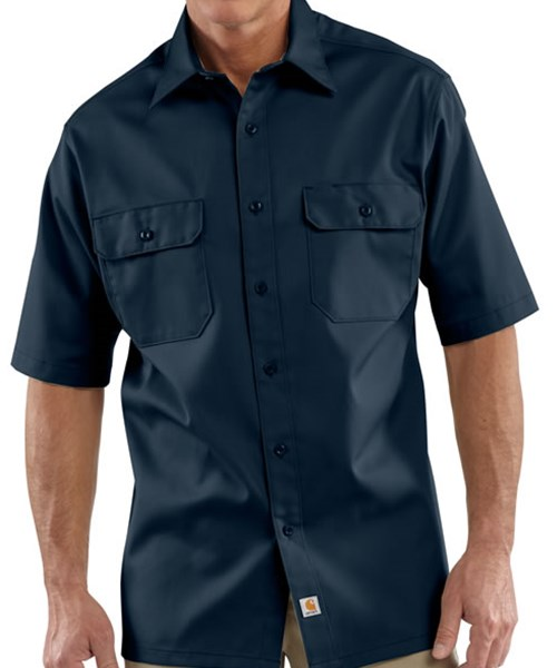S223 short sleeve twill work shirt custom embroidered or for Embroidered work shirts no minimum order