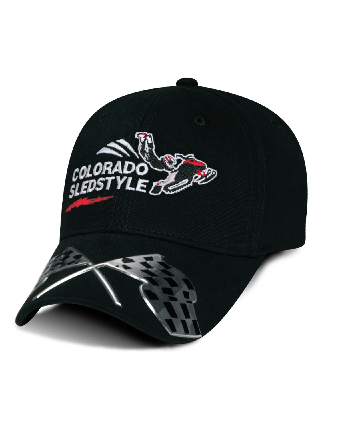 852b2831f96  MX134 The Liquid Metal Racing Flags Max Hat custom embroidered or printed  with your logo.