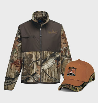 Camo Shop Embroiderd or Screen printed with your logo.