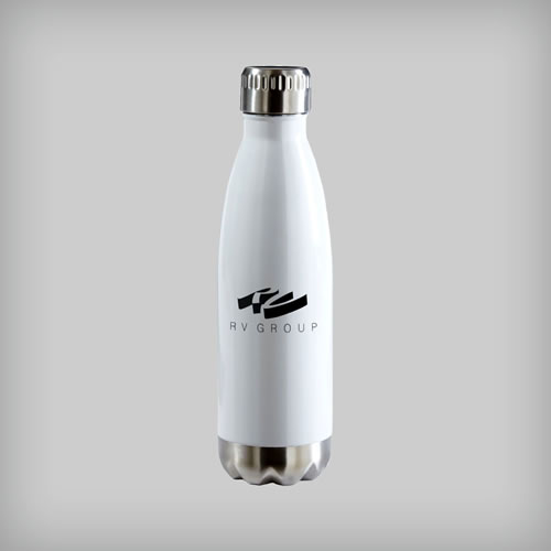 Custom printed bottles.
