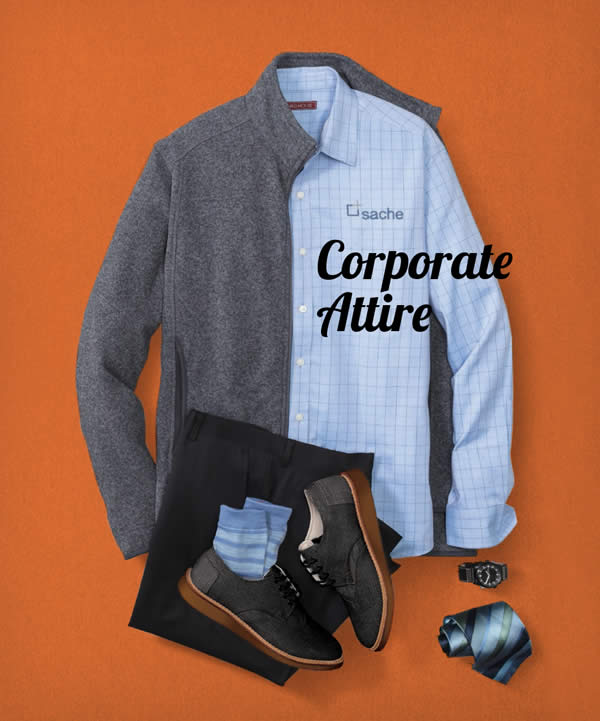 Corporate Attire Embroided or Screen printed with your Logo.