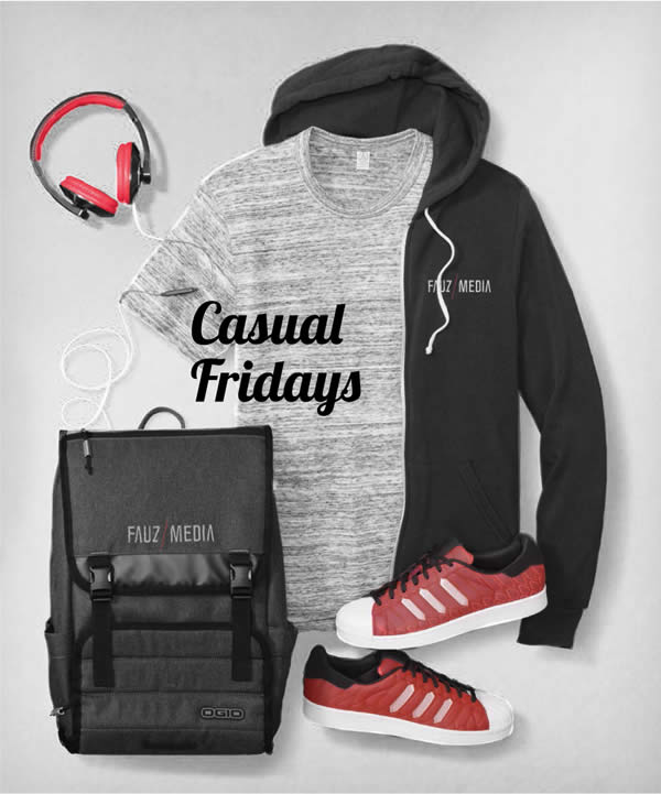 Casual Fridays Embroided or Screen printed with your Logo.