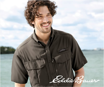 Eddie bauer Embroiderd or Screen printed with your logo.