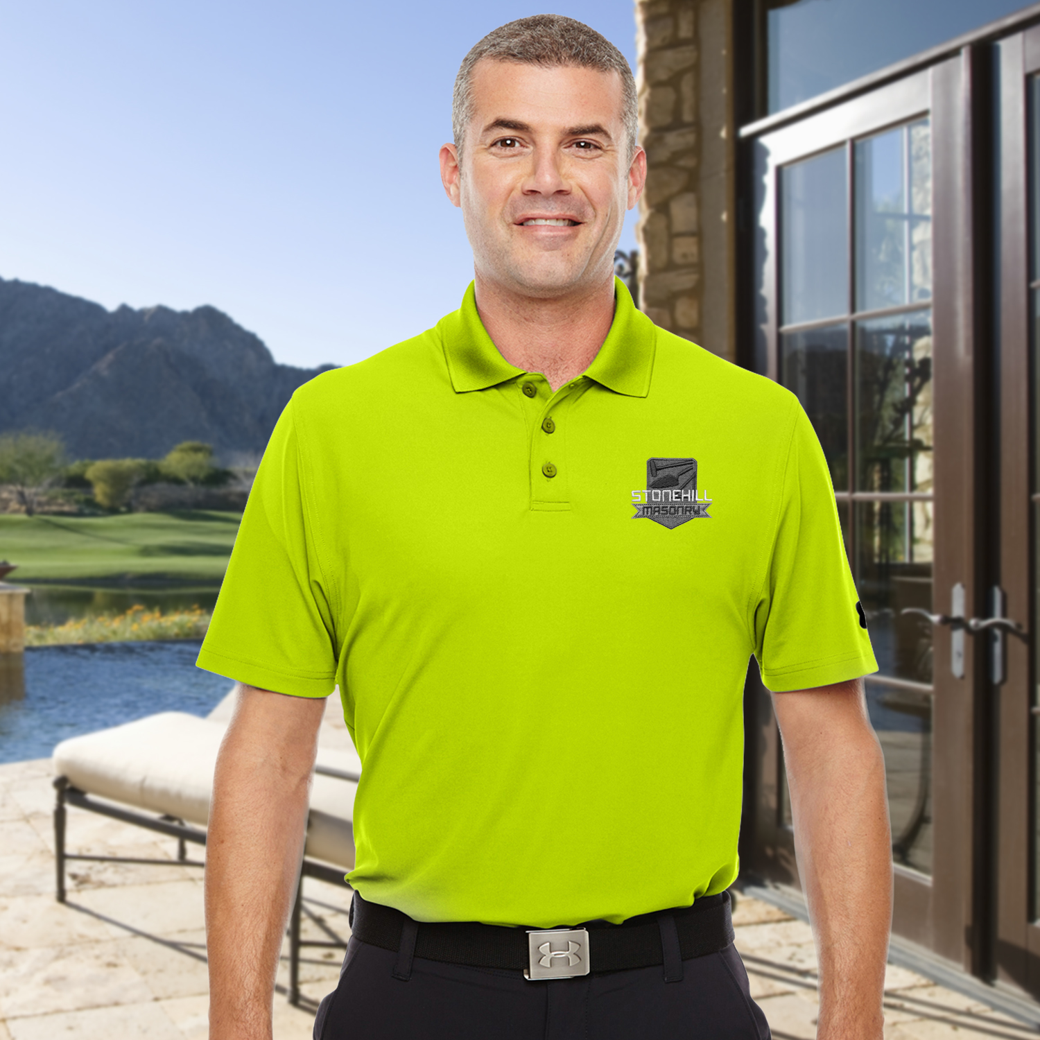70ff2f2e Mens Corporate Polo & Sport Shirts Under Armour custom embroidered ...