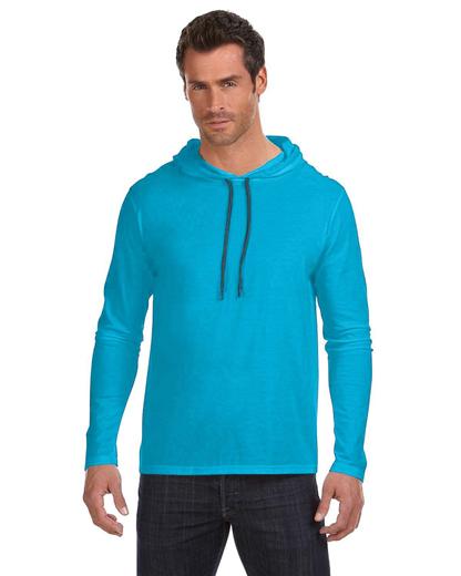 b66cc6b4 Men's Lightweight Long Sleeve Hooded T-Shirt