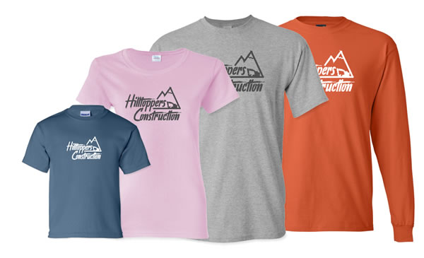 custom embroidery and screen printed t-shirts