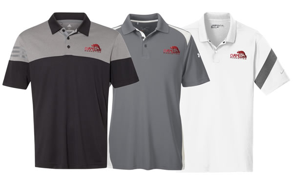 custom embroidery and screen printed polo shirts