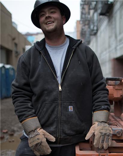 Carhartt Mens Rain Defender Rutland Thermal Lined Hooded Zip Front Sweatshirt